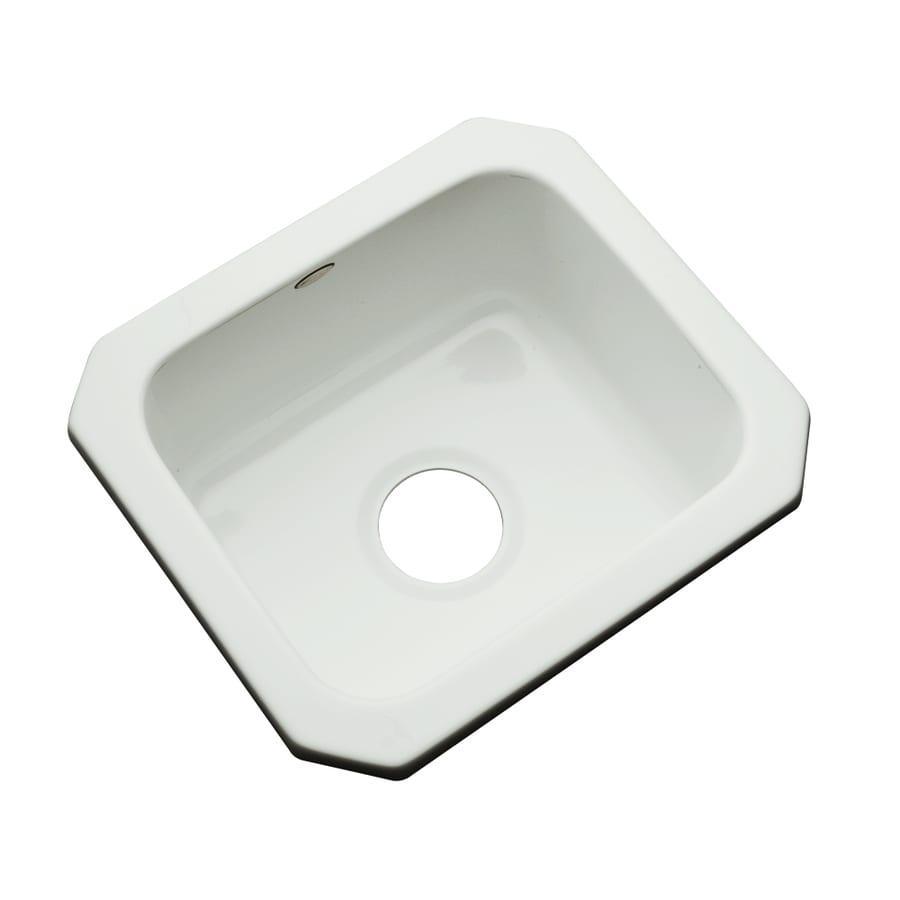Dekor Ice Gray Single-Basin Acrylic Undermount Residential Bar Sink
