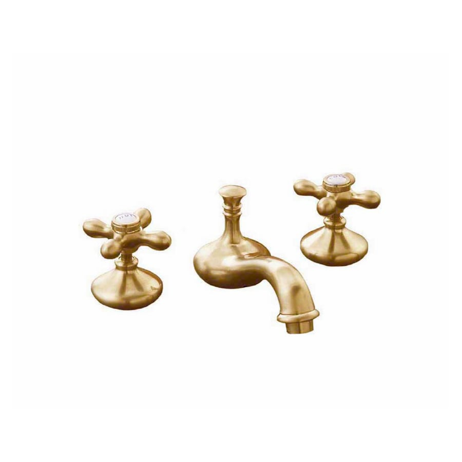 Sign of the Crab Strom Plumbing Supercoated Brass 2-Handle Widespread Bathroom Sink Faucet (Drain Included)