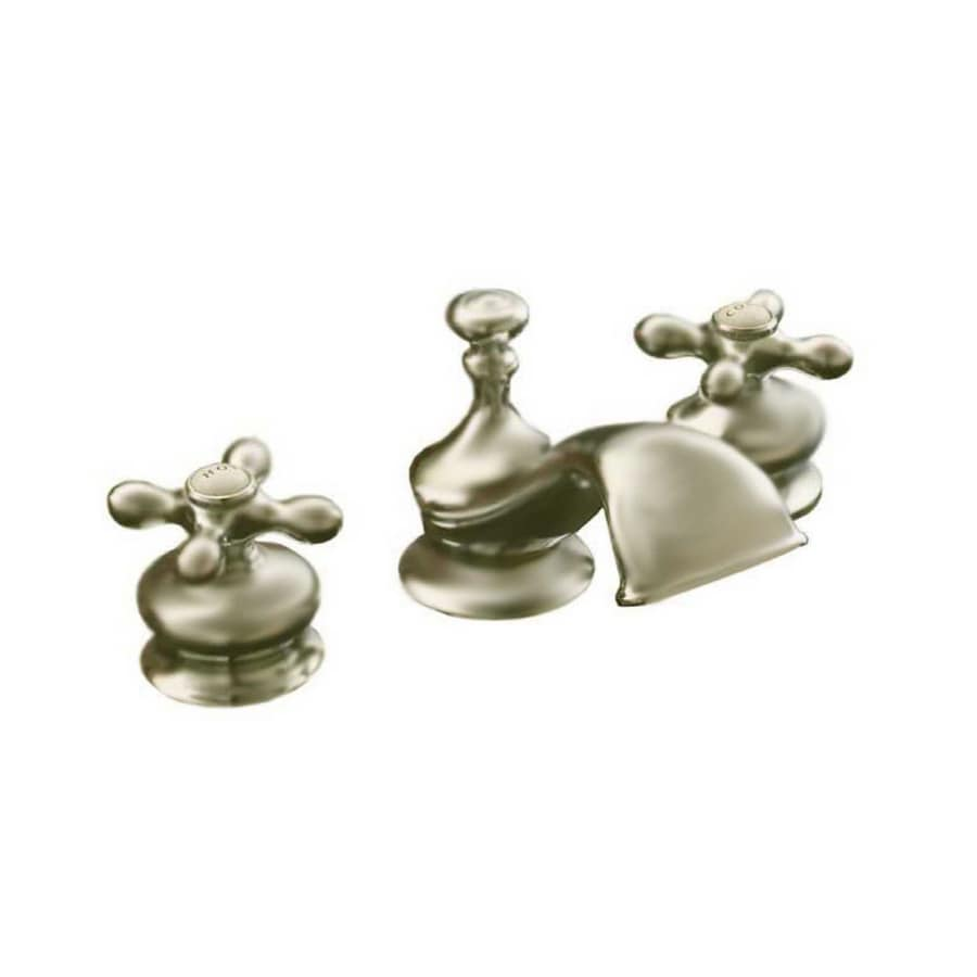 Sign of the Crab Strom Plumbing Matte Nickel 2-Handle Widespread Bathroom Sink Faucet (Drain Included)