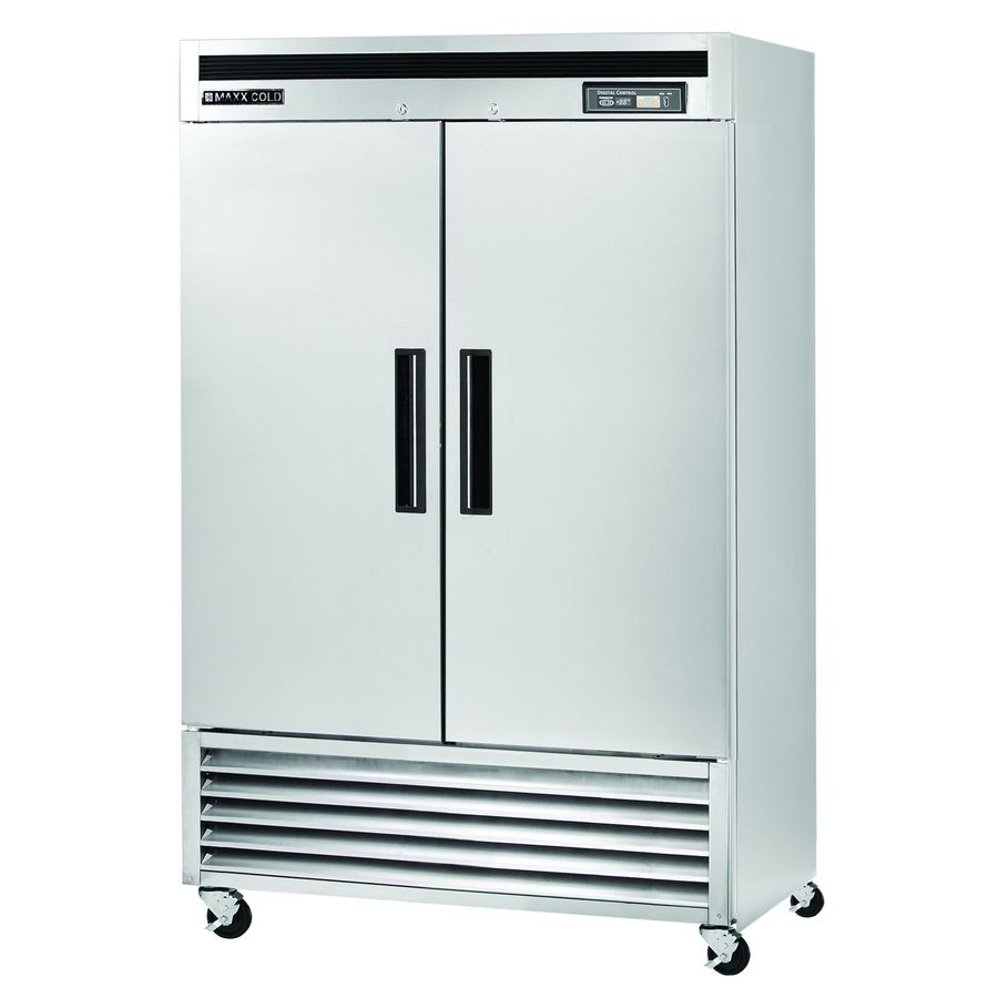 Maxx Cold 49-cu ft 2-Door Freezerless Side-by-Side Commercial Refrigerator (Stainless Steel)
