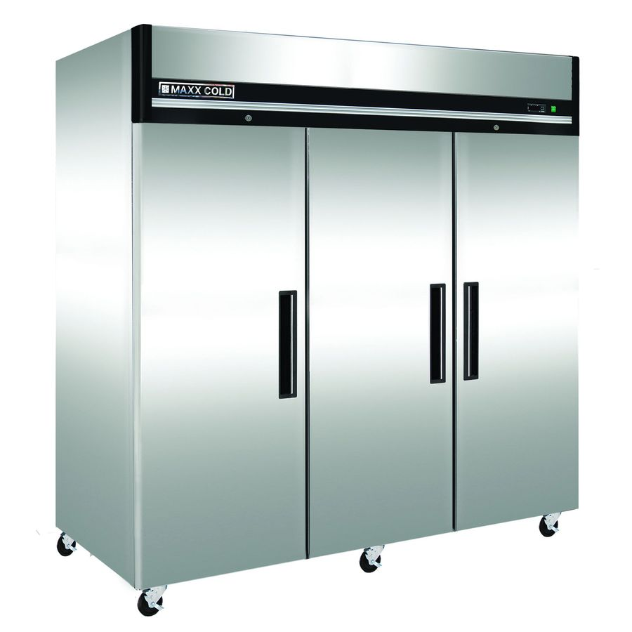 Maxx Cold 72-cu ft Frost-Free Freestanding Commercial Upright Freezer (Stainless Steel)