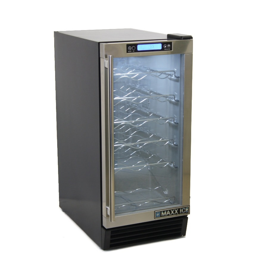 Shop Maxx Ice 28-Bottle Stainless Steel Wine Chiller at ...