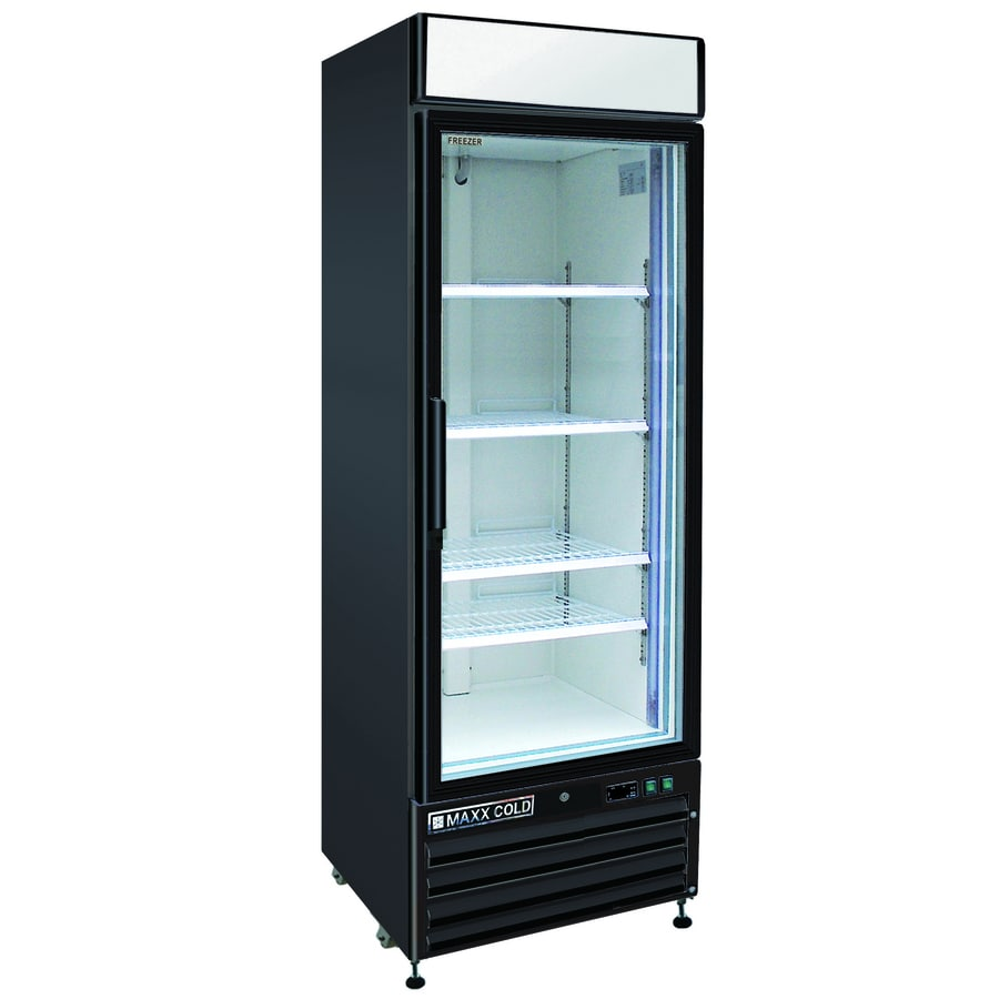Shop maxx cold 23 cu ft frost free commercial upright for 1 glass door refrigerator