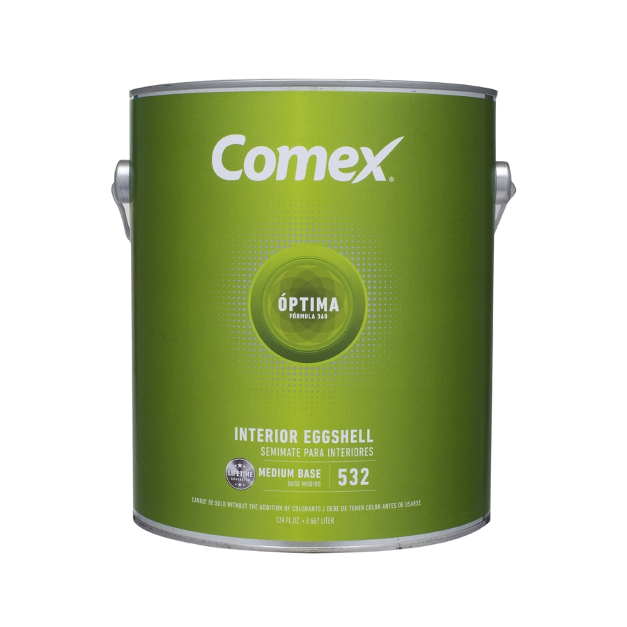 Comex White (Medium Base) Eggshell Latex Interior Paint (Actual Net Contents: 124-fl oz)