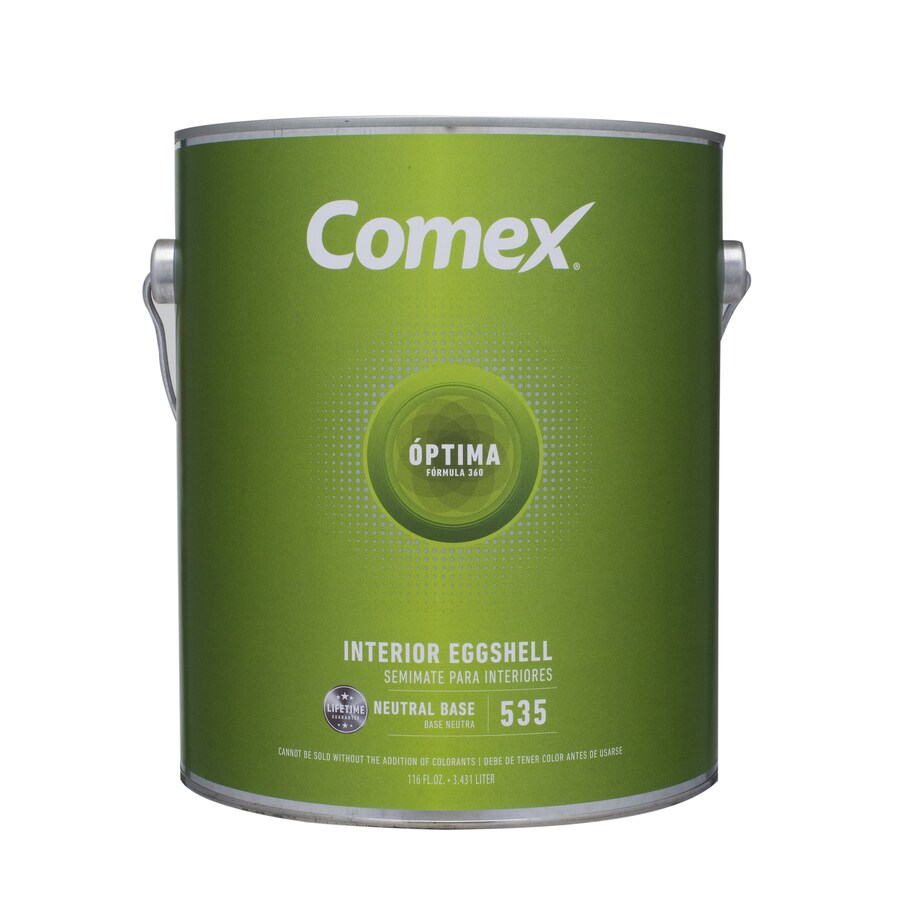 Comex White (Neutral Base) Eggshell Latex Interior Paint (Actual Net Contents: 116-fl oz)
