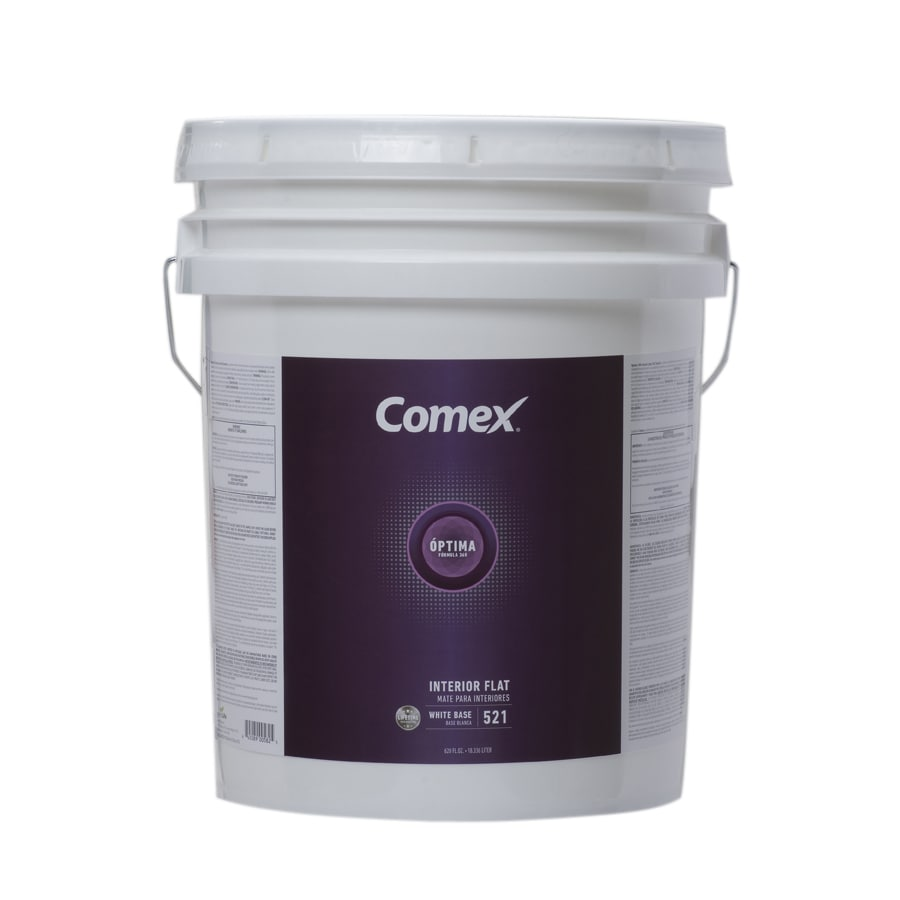 Comex White (White Base) Flat Latex Interior Paint (Actual Net Contents: 620-fl oz)