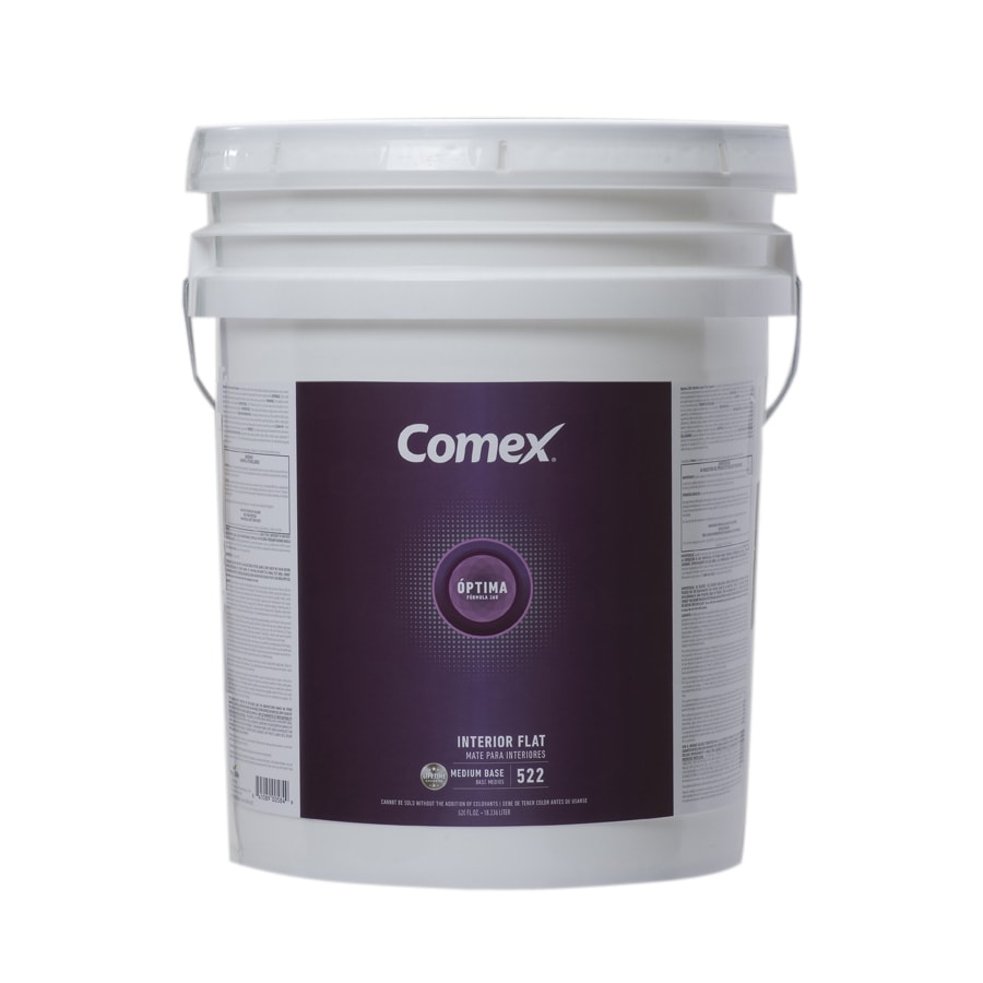 Comex White (Medium Base) Flat Latex Interior Paint (Actual Net Contents: 620-fl oz)