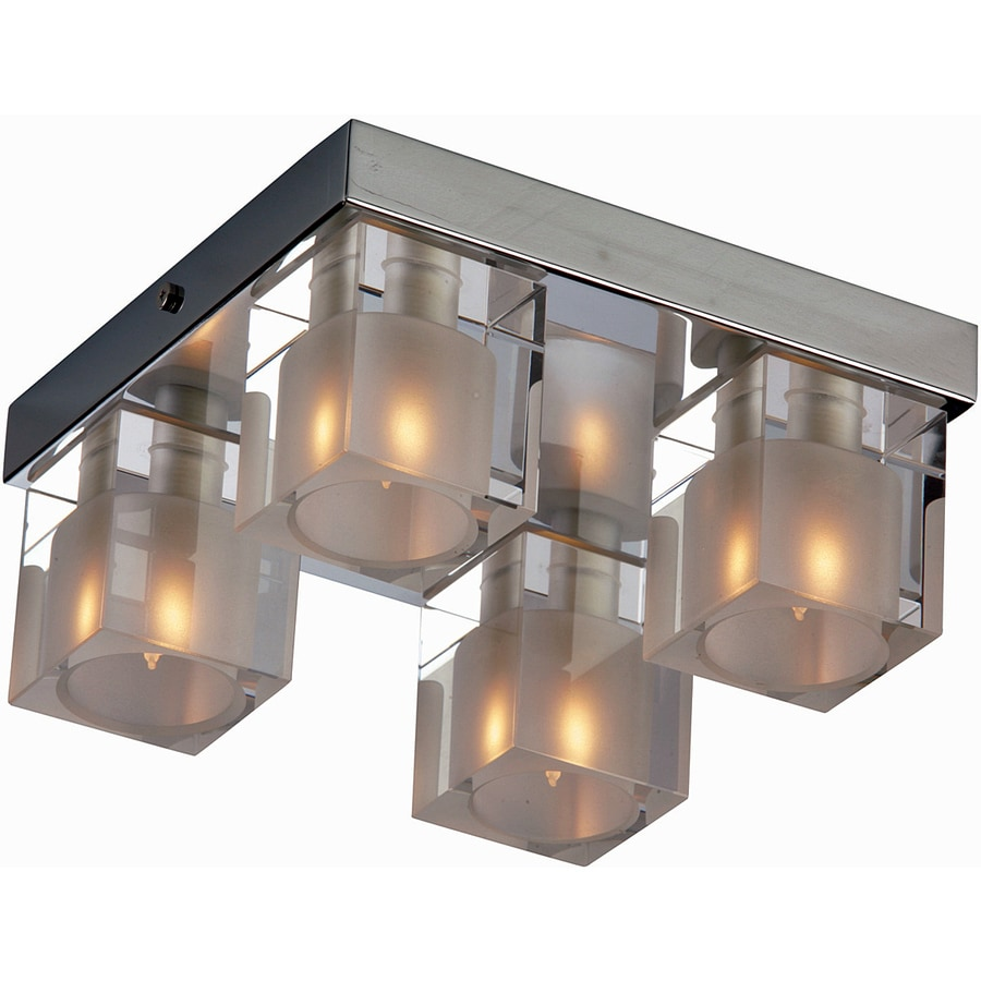 Pyramid Creations 8-in W Polished Chrome Ceiling Flush Mount Light