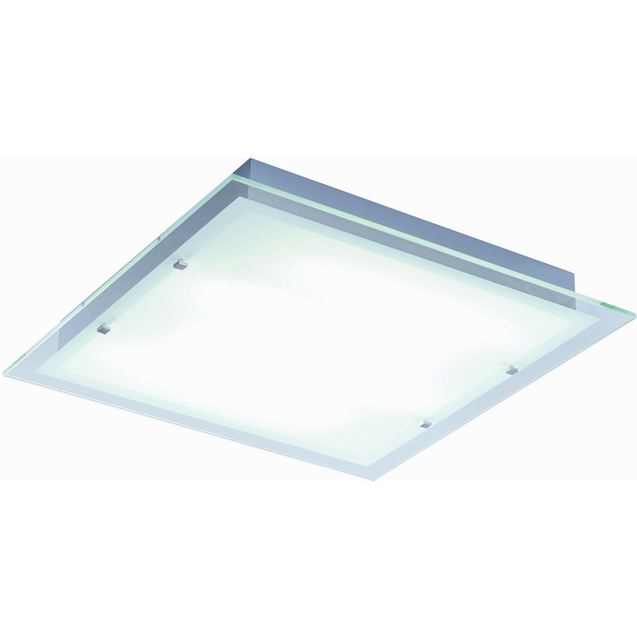 Pyramid Creations 22-in W Brushed Aluminum Ceiling Flush Mount