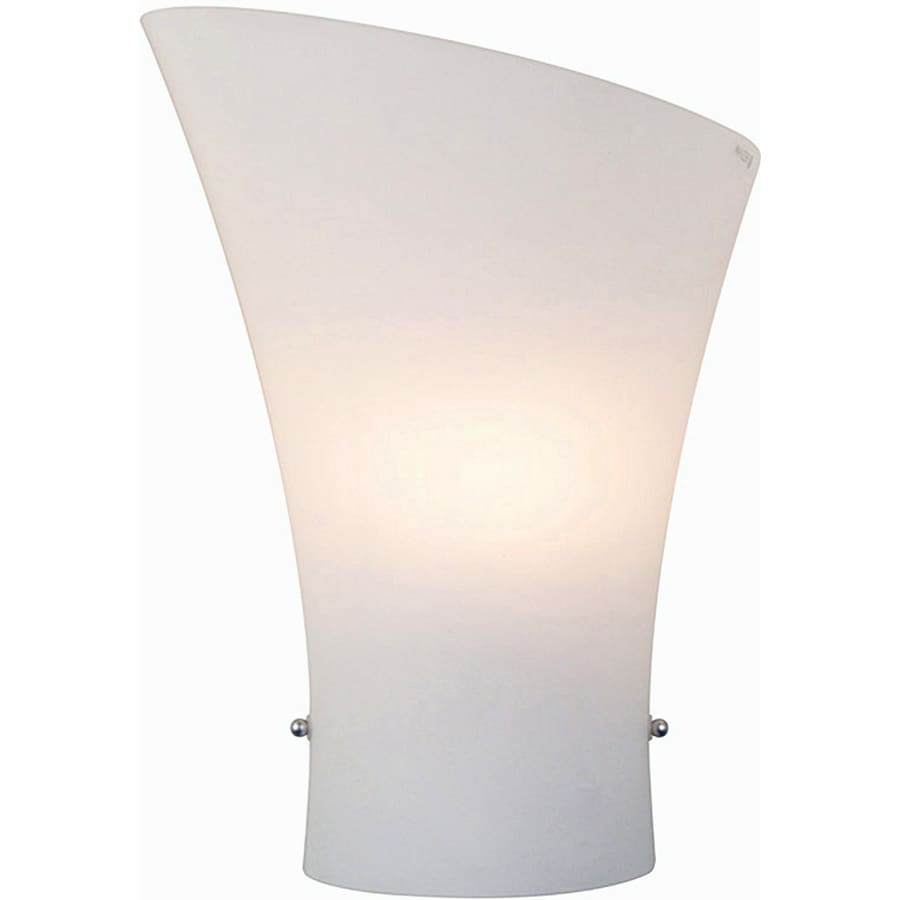 Pyramid Creations Conico 8-in W 1-Light Satin Nickel Arm Hardwired Wall Sconce