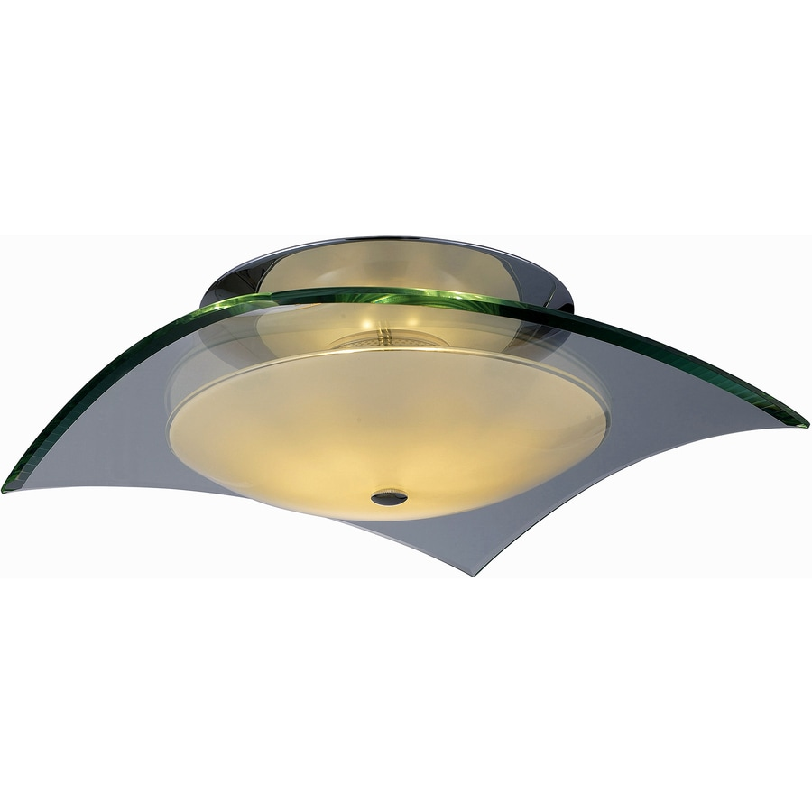 Pyramid Creations 12-in W Polished Chrome Ceiling Flush Mount Light