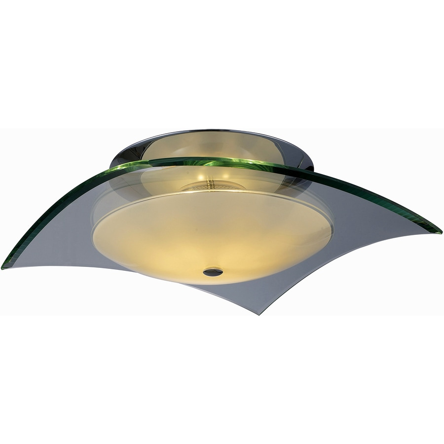 Pyramid Creations 9-in W Polished Chrome Ceiling Flush Mount Light