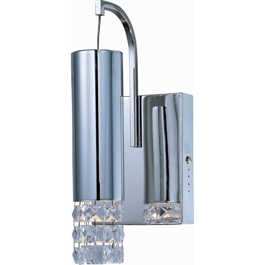 Pyramid Creations Bangle 5-in W 1-Light Polished Chrome Arm Hardwired Wall Sconce