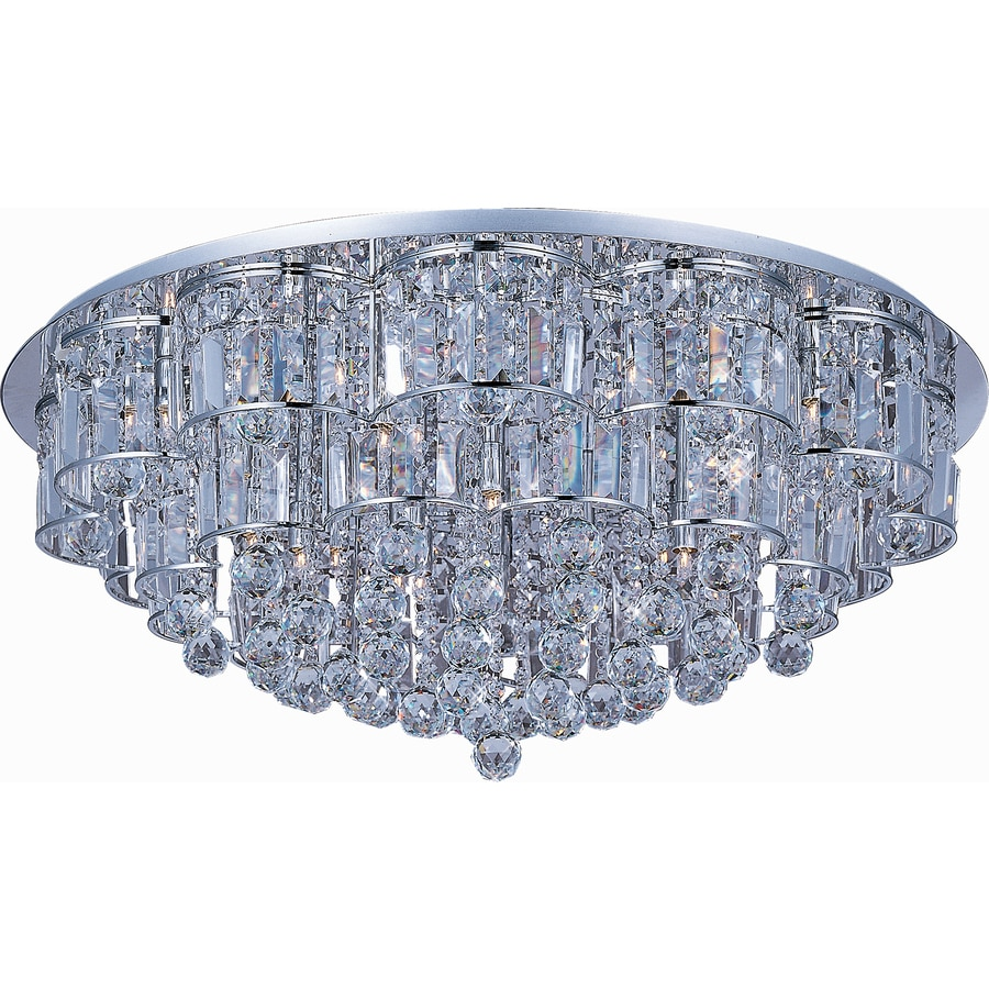 Pyramid Creations 32-in W Polished Chrome Ceiling Flush Mount Light