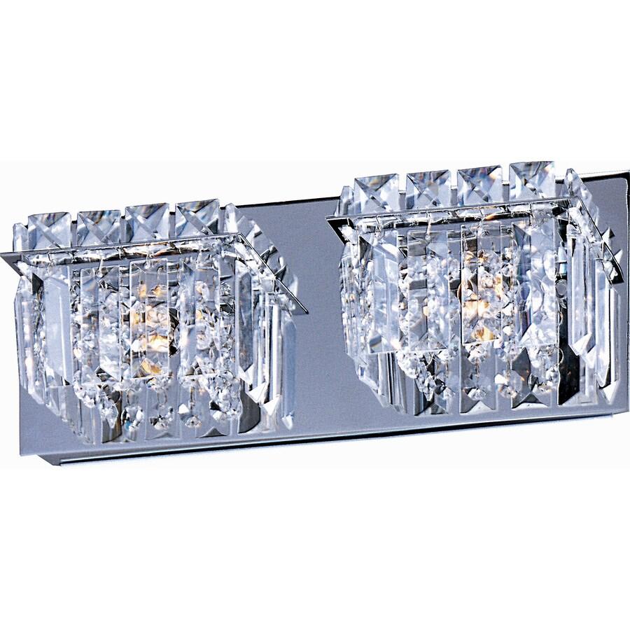 Pyramid Creations Bangle 2-Light Polished Chrome Globe Vanity Light