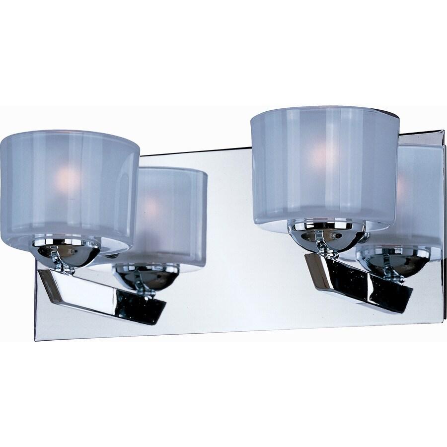 Pyramid Creations Vortex 2-Light Polished Chrome Cylinder Vanity Light