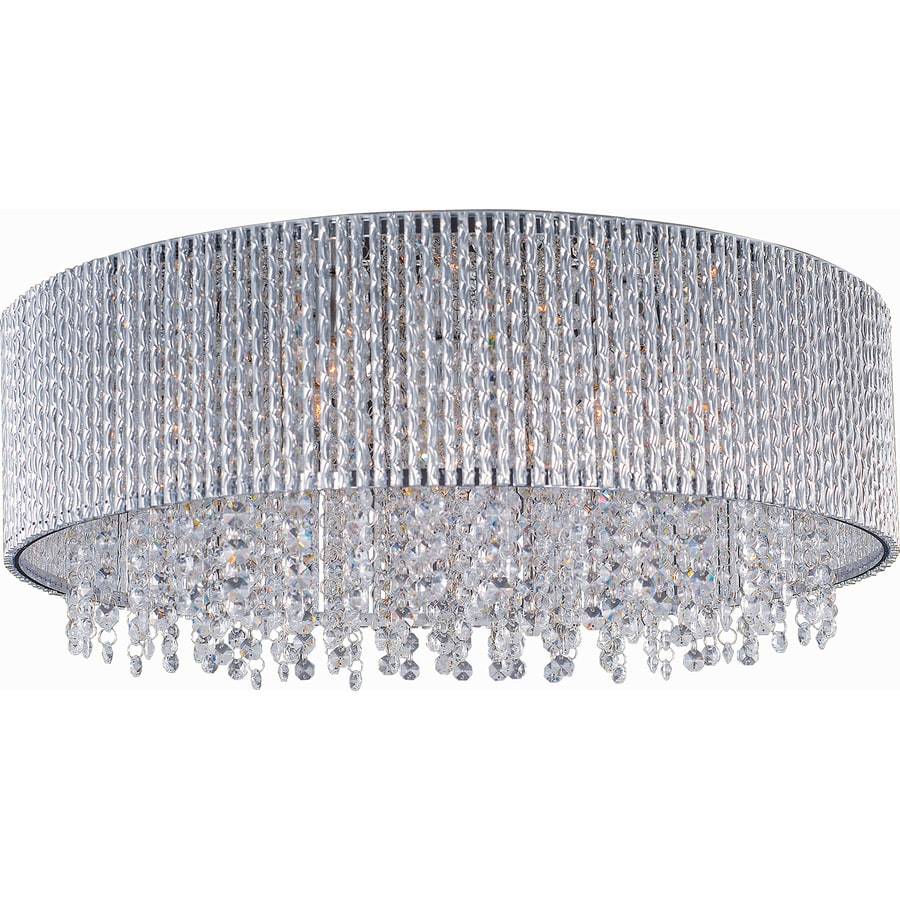 Pyramid Creations 22-in W Polished Chrome Ceiling Flush Mount Light