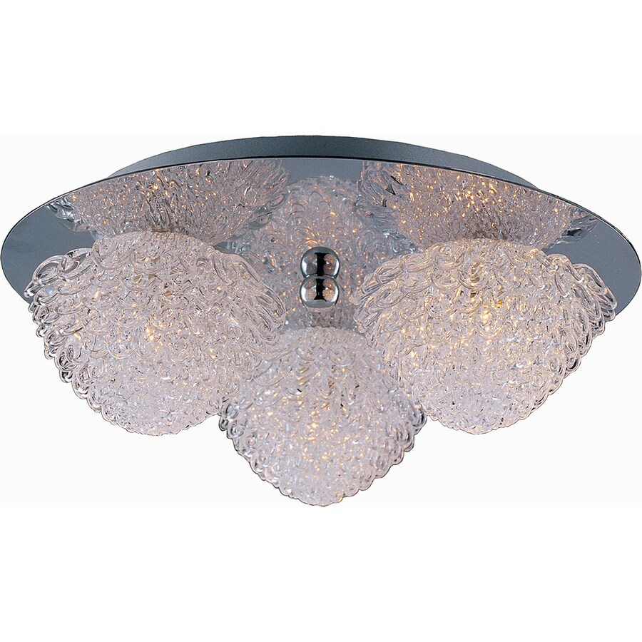 Pyramid Creations 11-in W Polished Chrome Ceiling Flush Mount Light