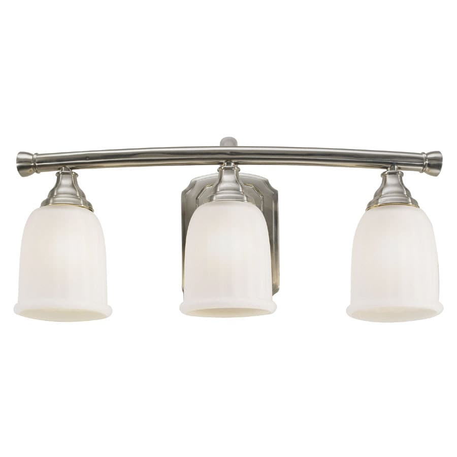 allen + roth 3-Light Mitchell Brushed Nickel Bathroom Vanity Light