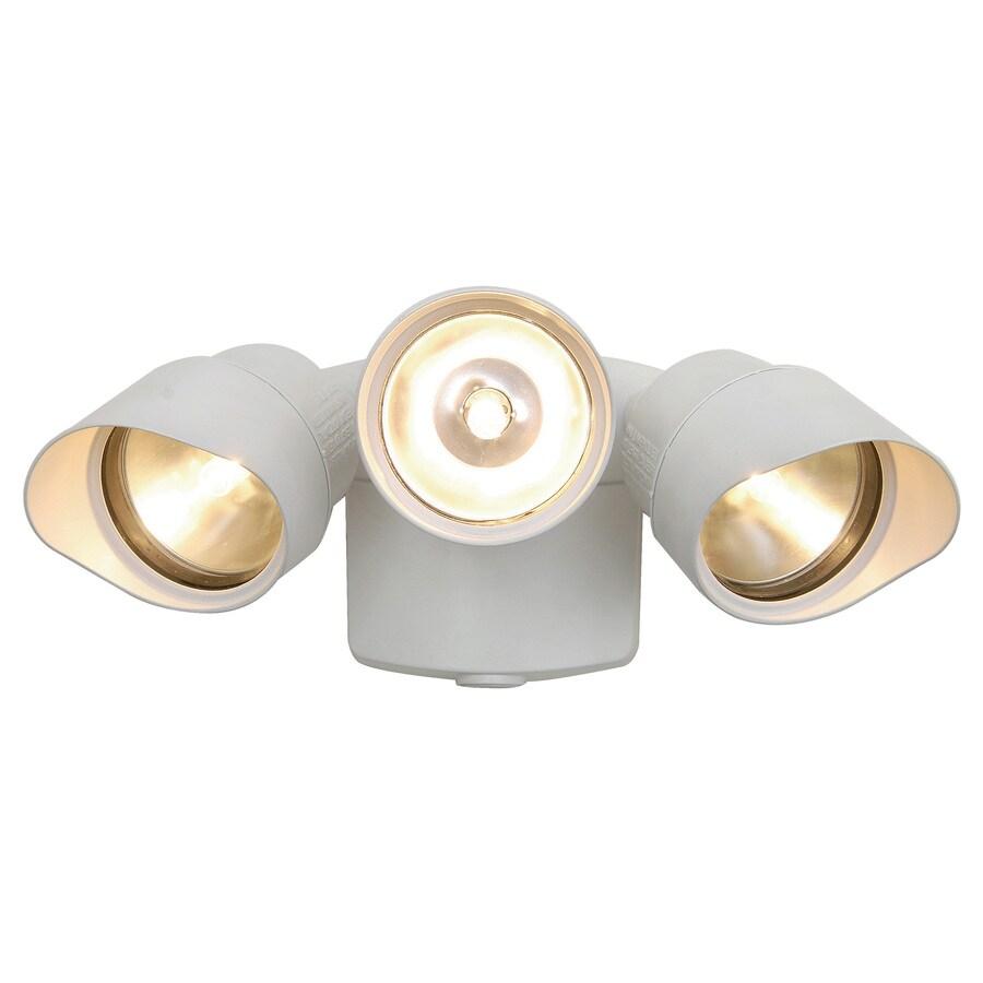 Utilitech 3-Head Halogen White Switch-Controlled Flood Light