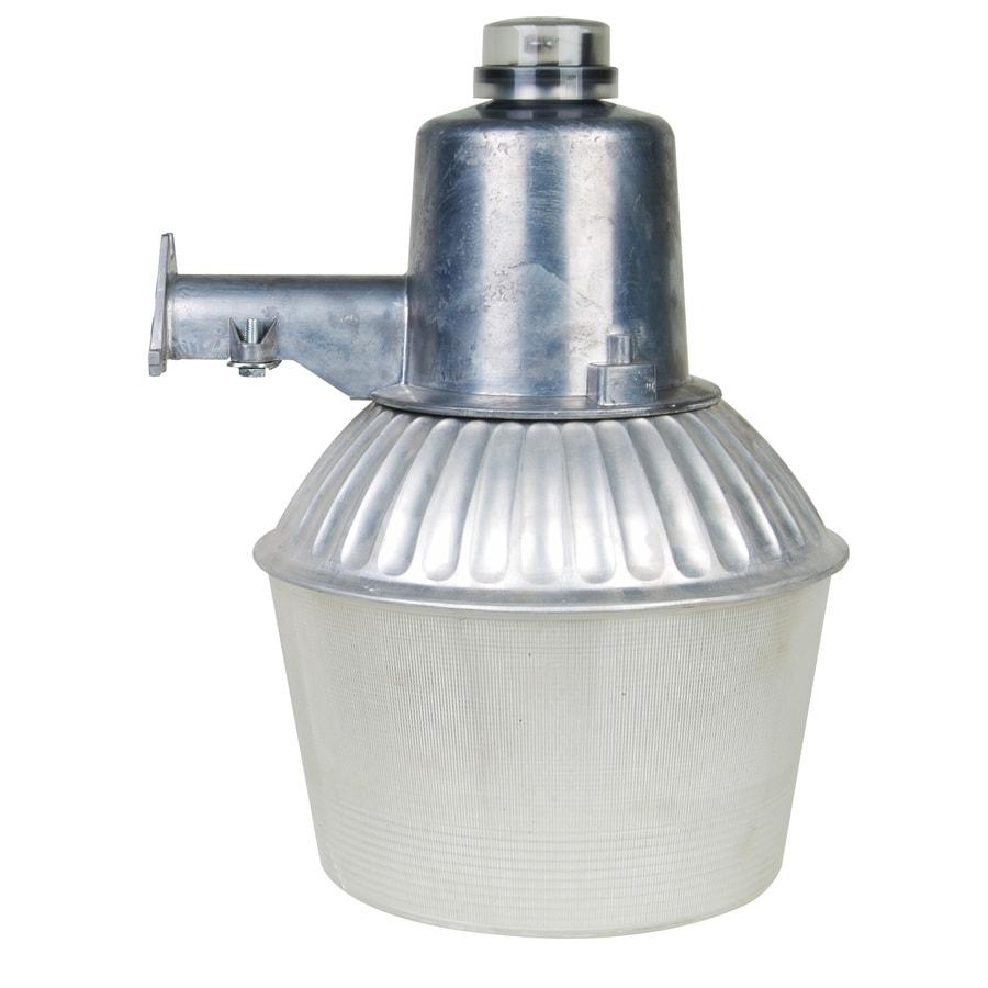 Utilitech 100-Watt Silver Metal Halide Dusk-to-Dawn Flood Light