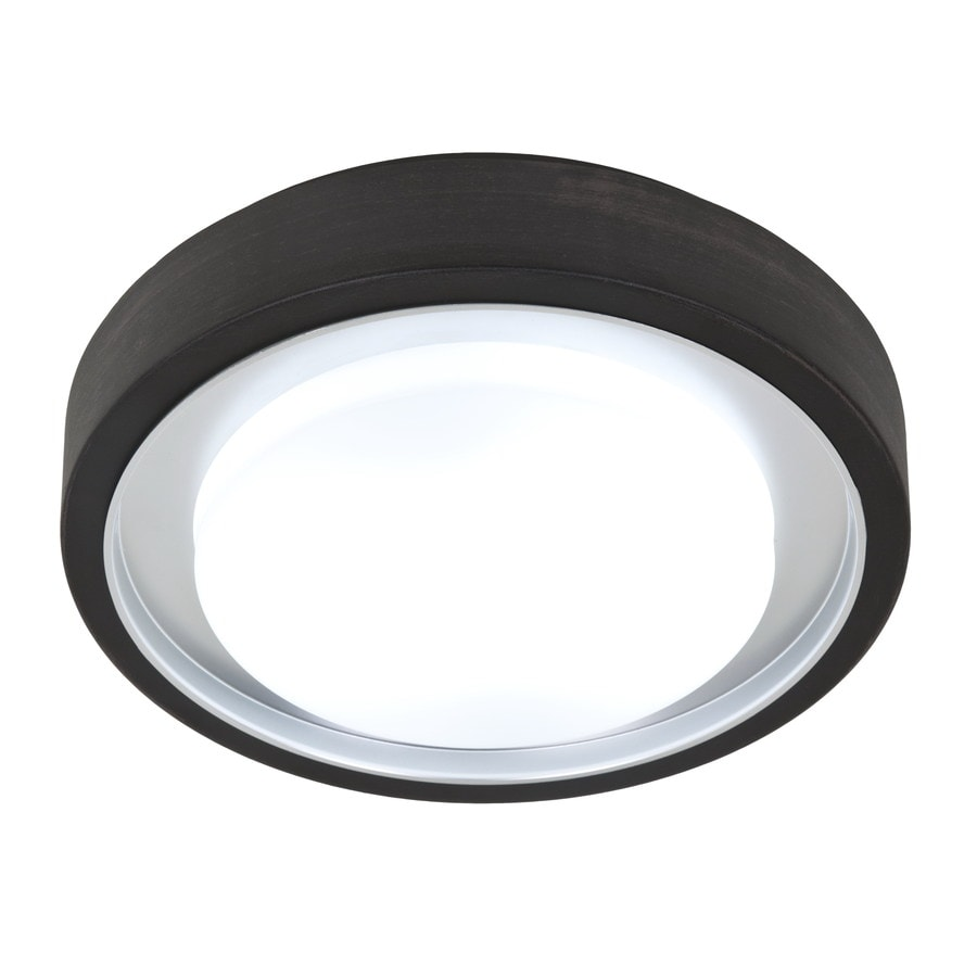 Style Selections 11.81-in W Oil Rubbed Bronze Ceiling Flush Mount Light