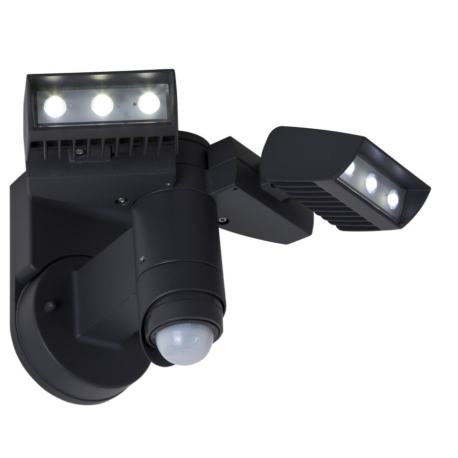 Utilitech 240-Degree 2-Head LED Motion-Activated Flood Light