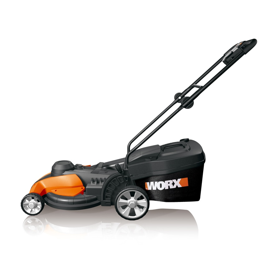 WORX WG708 13-Amp 17-in Corded Electric Push Lawn Mower with Mulching Capability