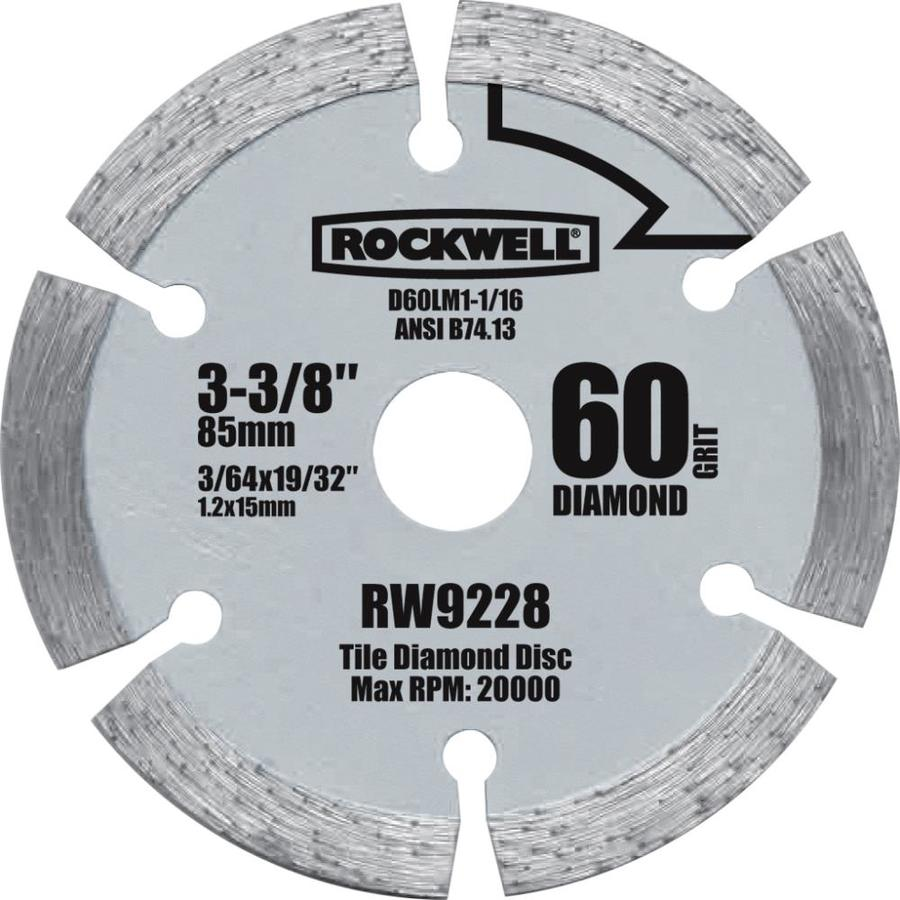 ROCKWELL 3-3/8-in Continuous Diamond-Tipped Steel Circular Saw Blade