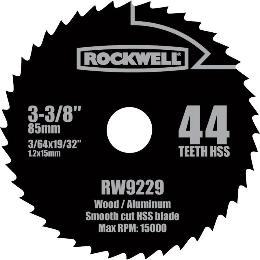ROCKWELL 3-3/8-in 44-Tooth Continuous High-Speed Steel Circular Saw Blade