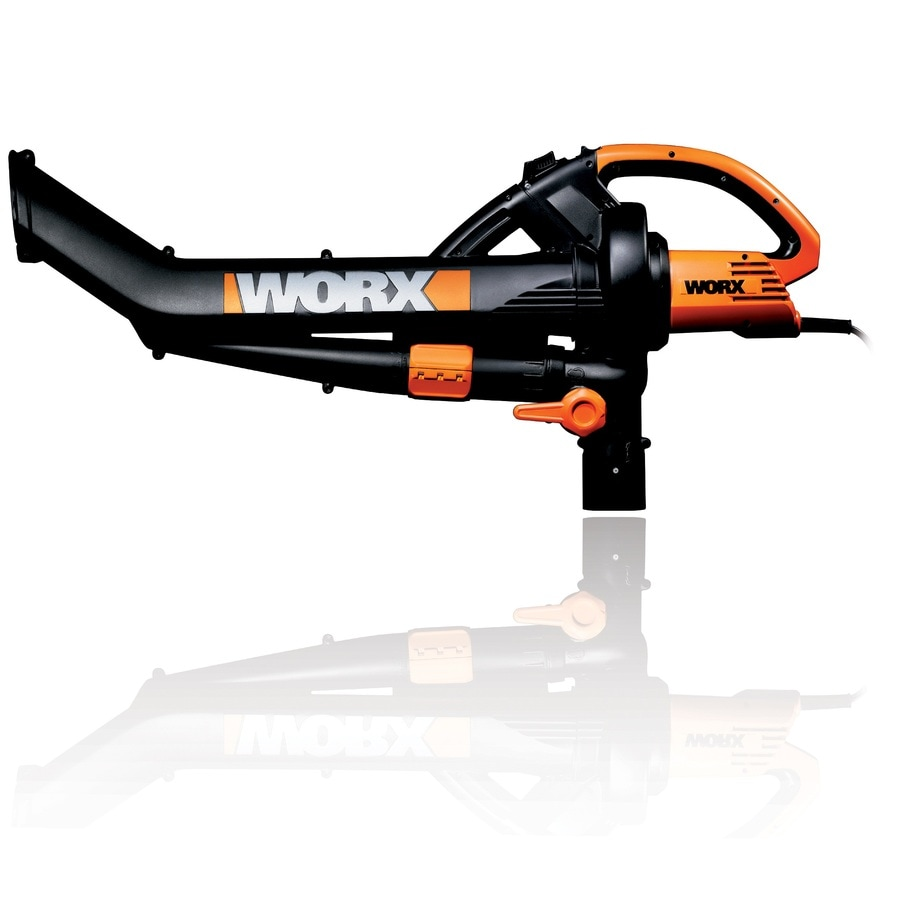 WORX 12-Amp 350-CFM 210-MPH Heavy-Duty Corded Electric Leaf Blower with Vacuum Kit