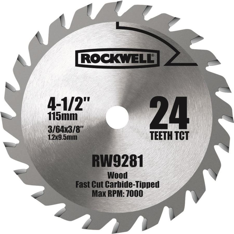 ROCKWELL 4-1/2-in 24-Tooth Continuous Carbide Circular Saw Blade