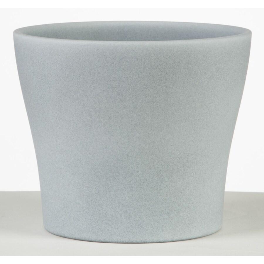5.9-in x 5.4-in Grey Stone Ceramic English Planter