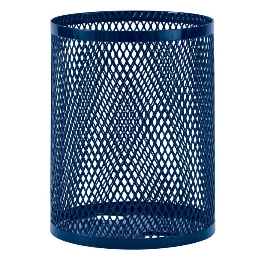 Ultra Play 32-Gallon Blue Thermoplastic Coating Steel Commercial Touchless Trash Can
