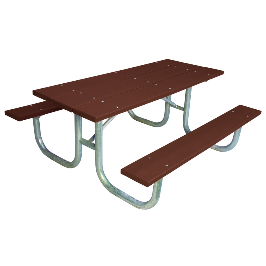 Ultra Play 72-in Brown Recycled Plastic Rectangle Picnic Table