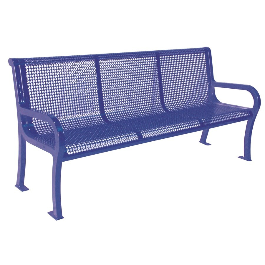 Ultra Play 75-in L Steel Park Bench