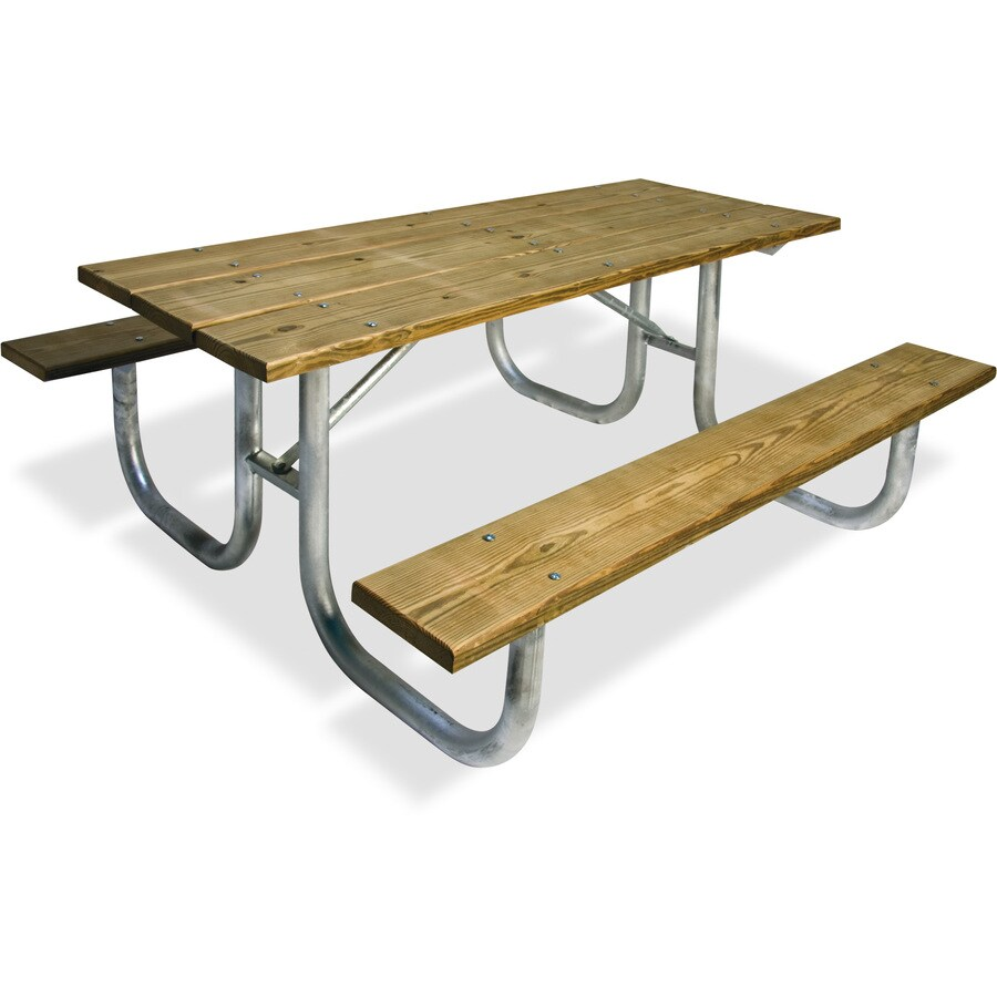 Ultra Play 96-in Brown Southern Yellow Pine Rectangle Picnic Table