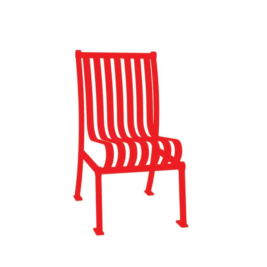Ultra Play 20-in L x 25-in D x 36-in H Hamilton Series Steel Powder Coated Red Park Chair