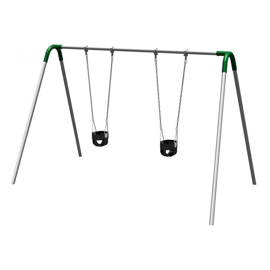 Ultra Play Green/Galvanized Steel Freestanding Swings