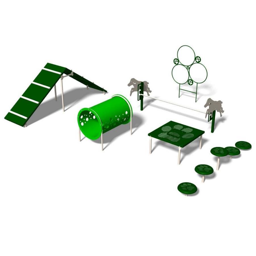 Ultra Play 6-Activity Intermediate Dog Park Agility Course Kit