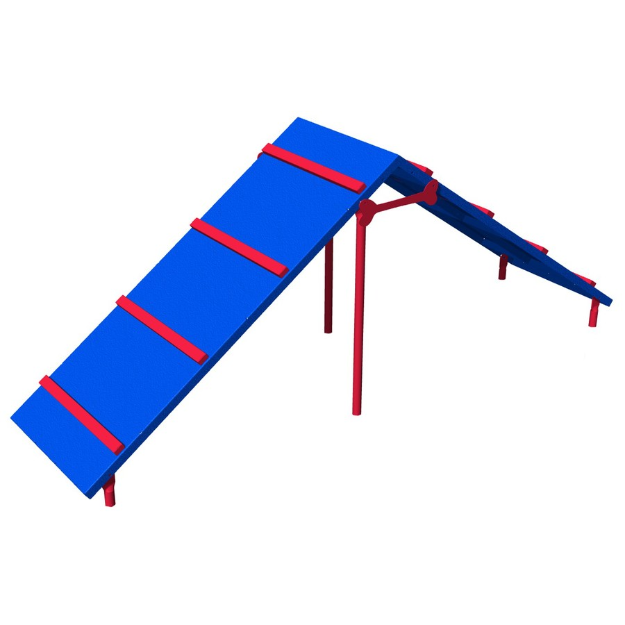 Ultra Play Blue and Red Dog Park Ramp