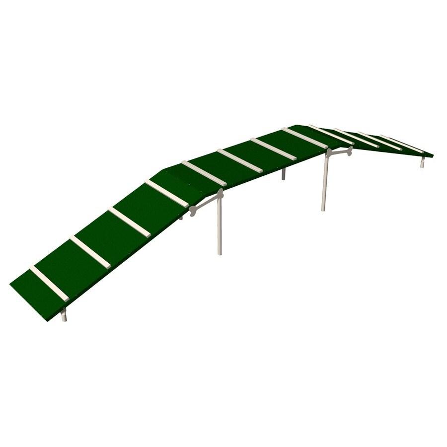 Ultra Play Green and Beige Dog Park Platformed Ramp