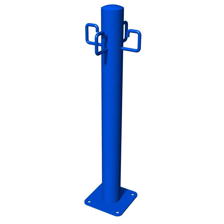 Ultra Play Blue Powder-Coated Steel Pet Leash Post