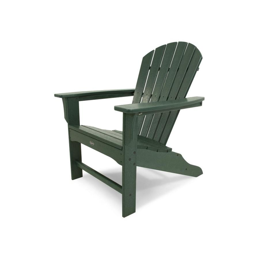 Shop Trex Outdoor Furniture Cape Cod Rainforest Canopy Plastic Patio Adirondack Chair At Lowes Com