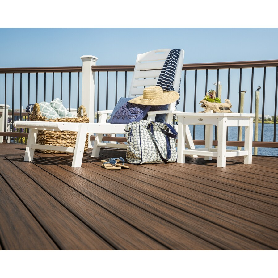 Shop Trex Outdoor Furniture Yacht Club Classic White Plastic Patio Chaise Lou