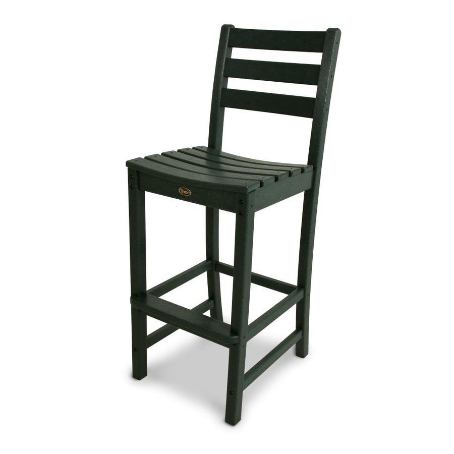 Trex Outdoor Furniture Monterey Bay Rainforest Canopy Plastic Patio Barstool Chair