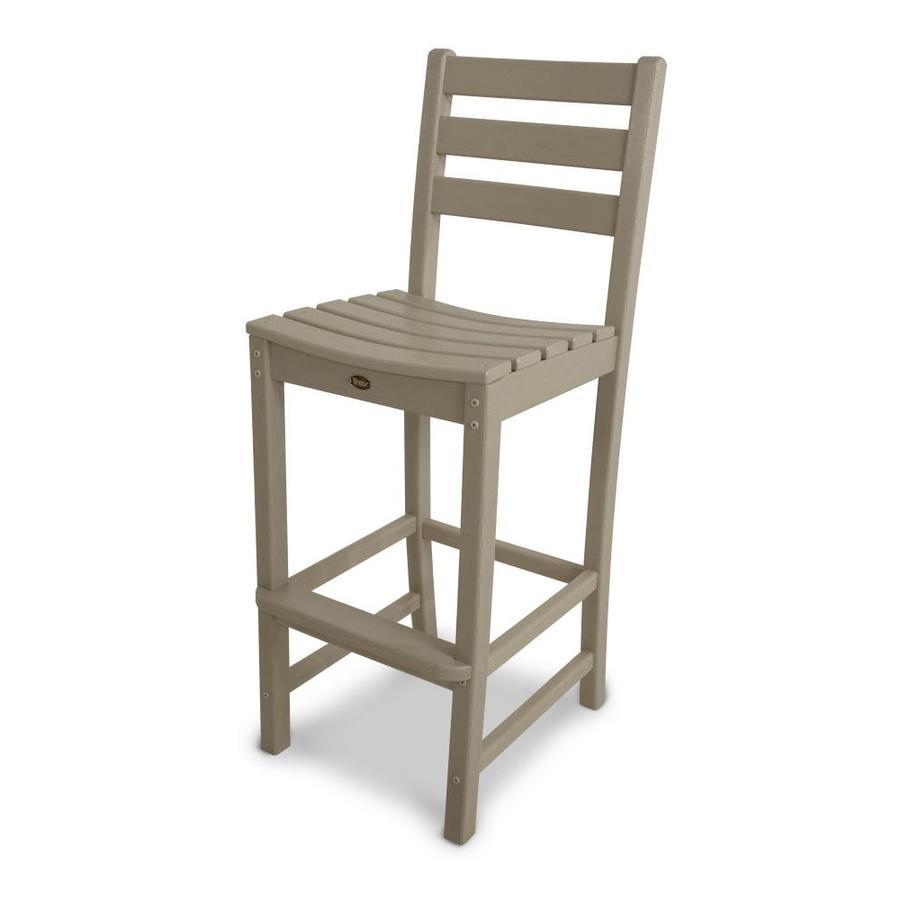 Trex Outdoor Furniture Monterey Bay Sand Castle Plastic Patio Barstool Chair