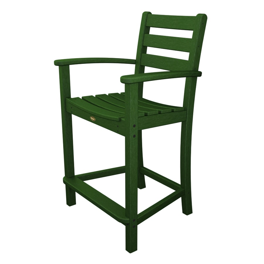 Shop Trex Outdoor Furniture Monterey Bay Rainforest Canopy Plastic Patio Dining Chair At