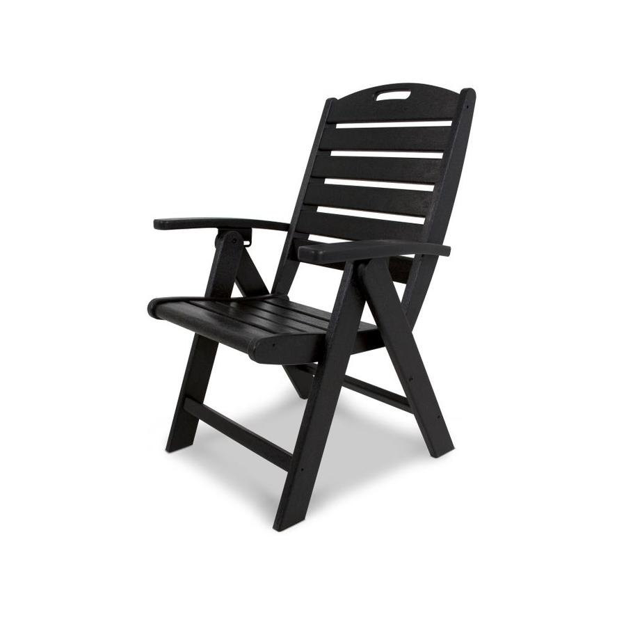 Trex Outdoor Furniture Yacht Club Charcoal Black Plastic Patio Dining Chair
