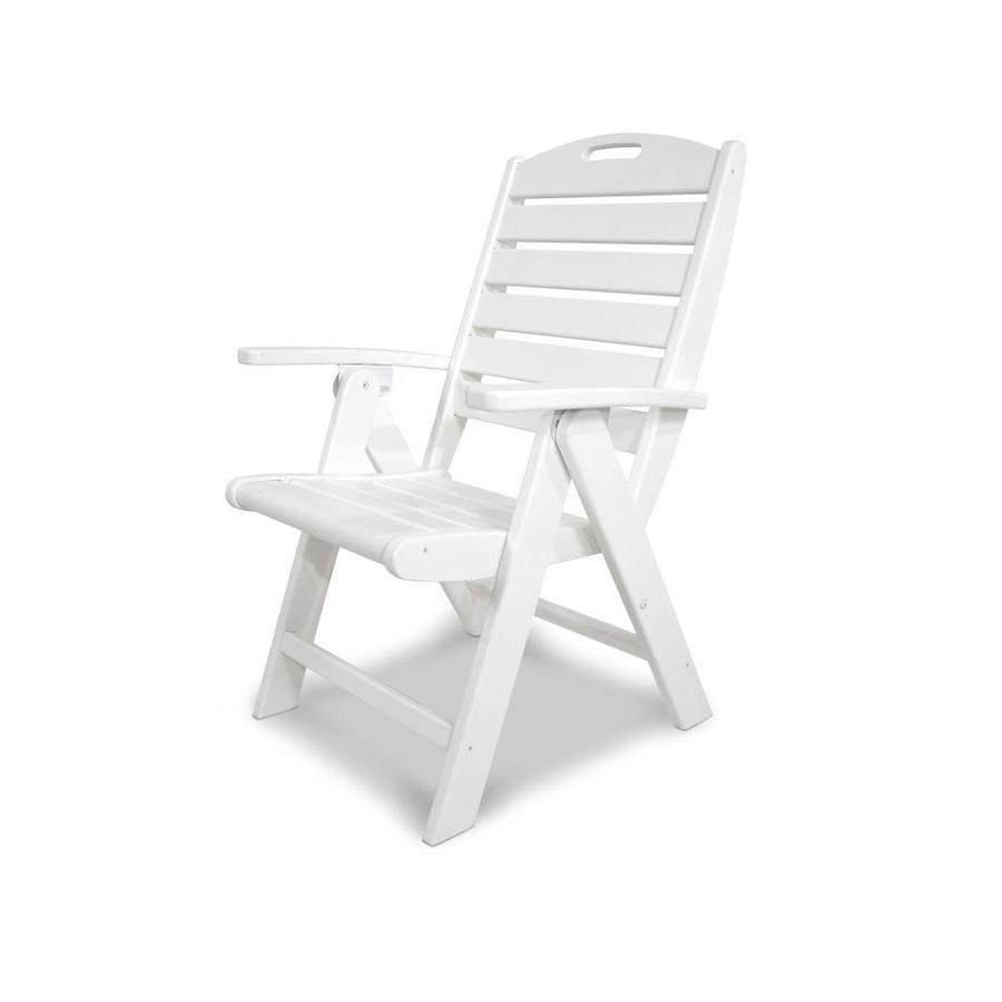 Shop trex outdoor furniture yacht club classic white for White plastic dining chair